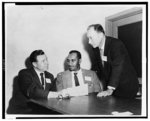 [Delegate Assembly for Civil Rights, left to right, Roy Reuther of United Automobile Workers, AFL-CIO; Clarence Mitchell, director of NAACP Washington bureau; and Charles Zimmerman of Jewish Labor Committee]