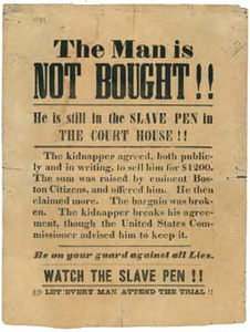 The Man is Not Bought! He is Still in the Slave Pen in the Court House!