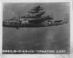 B-25 planes in formation