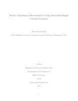 Battery Impedance Measurement Using Sinusoidal Ripple Current Emulator