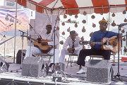 Robert Thomas and Albert Macon performing at the 1989 Alabama Folklife Festival in Birmingham, Alabama.