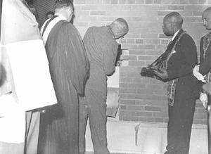 Laying cornerstone?, St. James A.M. E. Church, St. Paul