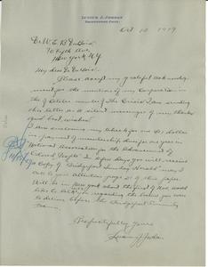 Letter from Lucius J. Jordan to W. E. B. Du Bois
