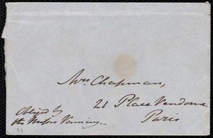 Letter from John Bishop Estlin, 15 Craven Hill, Bayswater, [England], to Maria Weston Chapman, Ap[ri]l 3rd, 1852, Saturday