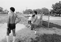 Men playing baseball, Atlantic City
