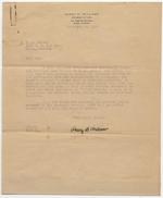 Affidavit Letter between Dana A. Dorsey to H. F. Taylor and Mamie J. Taylor