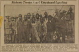 """Alabama Troops Avert Threatened Lynching."""