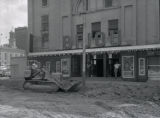 Bijou Theatre, construction in front of theater, 1957 July 17