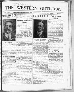 The Western Outlook (San Francisco and Oakland, Calif.), Vol. 34, No. 31, Ed. 1 Saturday, May 5, 1928 The Western Outlook