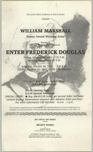 Flyer: Enter Frederick Douglass Enter Frederick Douglass - William Marshall