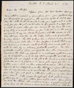 Letter from John Starkweather, Bristol, to Amos Augustus Phelps, March 26. 1834