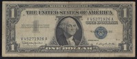 "The United States of America one dollar bill with stamp: ""The NAACP is a communist front group""."