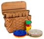 Picnic basket used by Beneta and John McHie