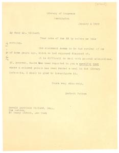 Letter from Herbert Putnam to Oswald Garrison Villard