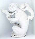 Meissen teapot in the form of a monkey and young