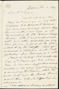 Letter from Edmund Quincy, Dedham, [Mass.], to Maria Weston Chapman, Dec. 5, 1844