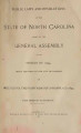 Public laws and resolutions of the State of North Carolina passed by the General Assembly at its session of ...[1899] Laws, etc.; Public laws of North Carolina.