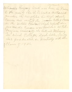 Biographical sketch of Dr. Francis Gregory Scott