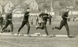 Marquette University sprint relay team practing, 1934?