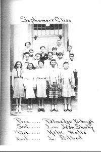 Fair Street School sophomore class 1948