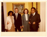 Ben and Frances Hooks with Jimmy and Rosalynn Carter
