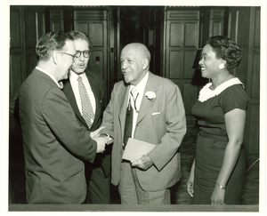 W. E. B. Du Bois and others, Fisk University, 1958