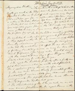 Letter from Beriah Green, Whitesboro, to Amos Augustus Phelps, Jan. 17. 1839