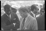 [Sidney Poitier and Burt Lancaster at the March on Washington for Jobs and Freedom]