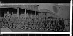 [Posed group of men in military uniform, ca. 1930s : cellulose acetate photonegative, banquet camera format]