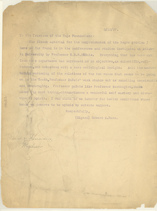 Letter from Edward A. Ross to the Trustees of the Sage Foundation