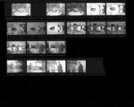 Set of negatives by Clinton Wright including a program at Bethel, Ray Feaster's daughter, A.D.L., Lodge Chapters taken at St. James, and Hellen Corratha's fortune teller, 1966