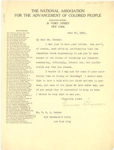 Letter from Frances Blascoer to W. E. B. Du Bois