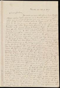 Letter from Anne Warren Weston, Boston, to Deborah Weston, October 9, 1837