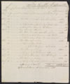 Account, production of plantation, 1824