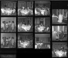 Set of negatives by Clinton Wright including COGIC Banquet at Caesars Palace, State Convention 70, and scholarship award at Matt Kelly for Booker, 1970