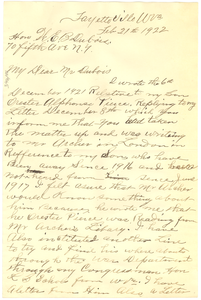 Letter from Harvey Pierce to W. E. B. Du Bois