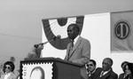 Charles R. Drew Postgraduate Medical School event speaker, Los Angeles, 1982