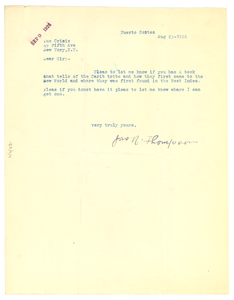 Letter from James N. Thompson to Crisis