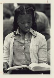 African American female student studying; Philip T. Datillo