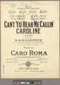 Can't yo' heah me callin' Caroline