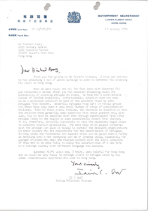 Letter from Ian C. Orr to Richard Avory