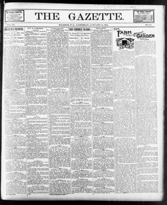 The Gazette. (Raleigh, N.C.), Vol. 9, No. 48, Ed. 1 Saturday, January 15, 1898 The Gazette The Weekly Gazette