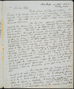 Letter from Lewis Tappan, New York, to Amos Augustus Phelps, 10 Oct. 1834