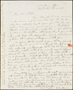 Letter from Elizur Wright, New York, to Amos Augustus Phelps, 1834 Feb[ruary] 20