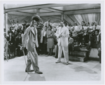 """Scene from motion picture """"Cabin in the Sky,"""" featuring Duke Ellington and his Orchestra, and singer and dancer John Bubbles, 1943"""