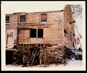 Newton photographs oversize : Allen House : 35 Webster Street / [compiled by the staff of the Newton Free Library]. - Allen House : 35 Webster Street - Exterior of Allen House During Restoration