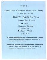 Mississippi Freedom Democratic Party State Convention