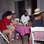 Berry Gordy and guests at his house party, Los Angeles