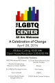 LGBTQ Center, launch event program, April 28, 2016