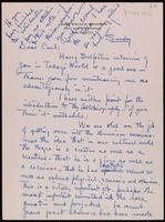 Letter : James Weldon Johnson to Carl Van Vechten